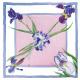 Foulard Glicine e Iris
